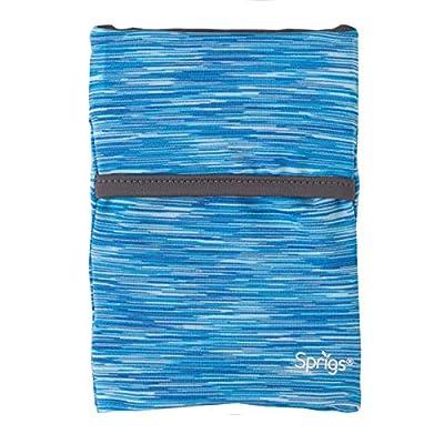 Sprigs Large 2 Pocket Banjees Wrist Wallet (Blue Melange & Grey)