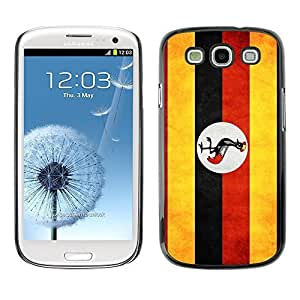 Shell-Star ( National Flag Series-Uganda ) Snap On Hard Protective Case For Samsung Galaxy S3 III / i9300 i717