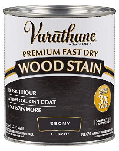 Varathane 269395 Premium Fast Dry Wood Stain, 32 oz, Ebony