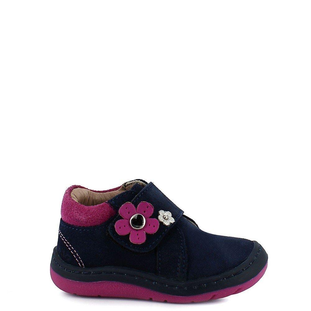 Rilo Girls Gamuza Marino Flower Embellished Leather Casual Shoes 2-2.5 Baby