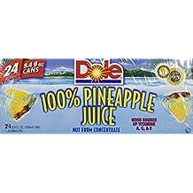 Dole 100% Pineapple Juice 8.4oz 24 Count by dole pine apple juice