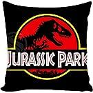 "PocaBlife Adventure Movie Jurassic Park Bestative Pillow Cover 24""x24"" inch Decorative Square Accent Pillow Case"
