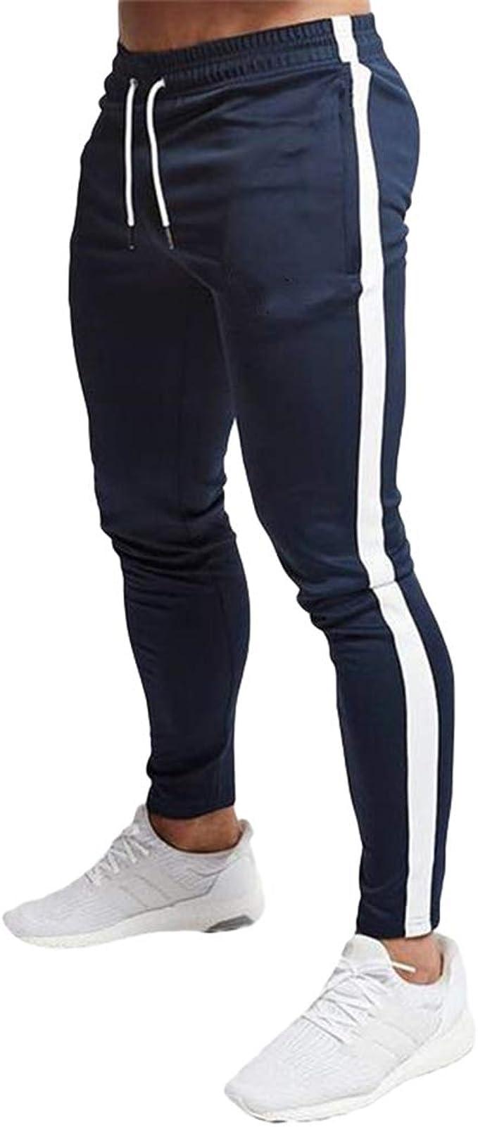 Yying Hombre Clásico Pantalones Chandal Lateral Raya ...