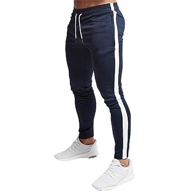 Pantalones Chandal Hombre, Clásico Lateral Raya Pantalones ...