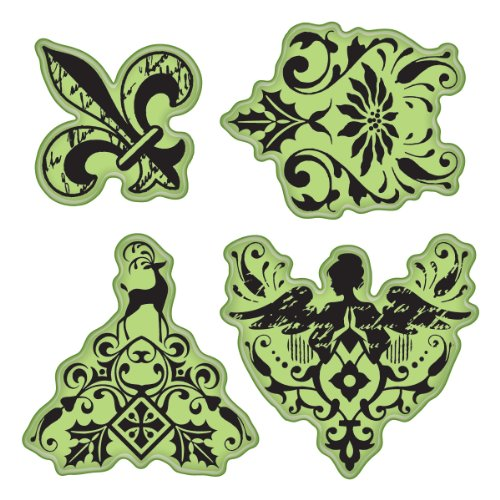 - Inkadinkado Stamping Gear Cling Stamps, Holiday Giftwrap