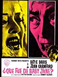What Ever Happened to Baby Jane? Poster Movie Spanish 11 x 17 Inches - 28cm x 44cm Bette Davis Joan Crawford Victor Buono Wesley Addy Julie Allred Anne Barton Marjorie Bennett