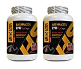 Bodybuilding Vitamins - Amino Acids 2200 mg Complex - Maximum Strength - Amino Acids Best Seller - 2 Bottles 300 Tablets