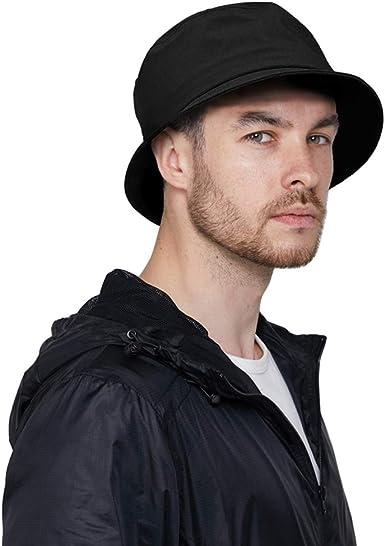 DOCILA Black Bucket Hat for Men Stylish Waterproof Rain Hats Crushable  Fishing Hiking Lightweight Fisherman Sun Caps (Black) at Amazon Men's  Clothing store