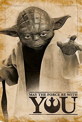 1art1 Star Wars - Yoda, Que La Fuerza Te Acompane Poster (91 x 61