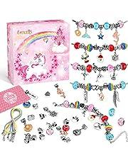 """Lenski Prezenty dla dziewcząt w wieku 4-11 lat – zestaw do samodzielnego wykonania bransoletek typu """"zrób to sam"""", prezenty dla dziewcząt, zabawek, dziewczynek, dzieci, prezenty na Boże Narodzenie, prezent dla dziewczynek 5 6 7 8 9 10 11 lat"""