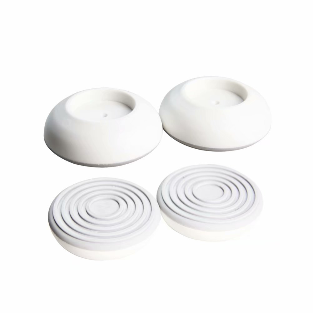 Baby Gates Wall Cups, Safety Wall Bumpers Guard Fit for Bottom of Gates, Doorway, Stairs, Baseboard, Work with Dog Pet Child Kid Pressure Mounted Gates 4 Pack W