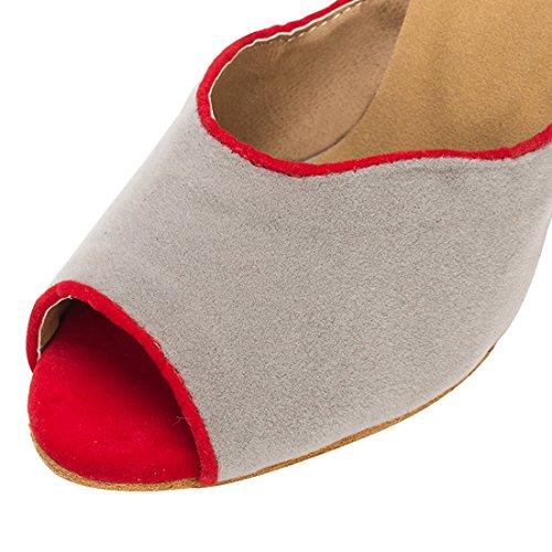 Salon 5cm Miyoopark HW180514 de 8 MiyooparkUK Danse Red Heel Grey Femme IqI1B