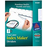 Avery Index Maker Dividers with Clear Labels, 3 Tab, 5 Sets (11435)