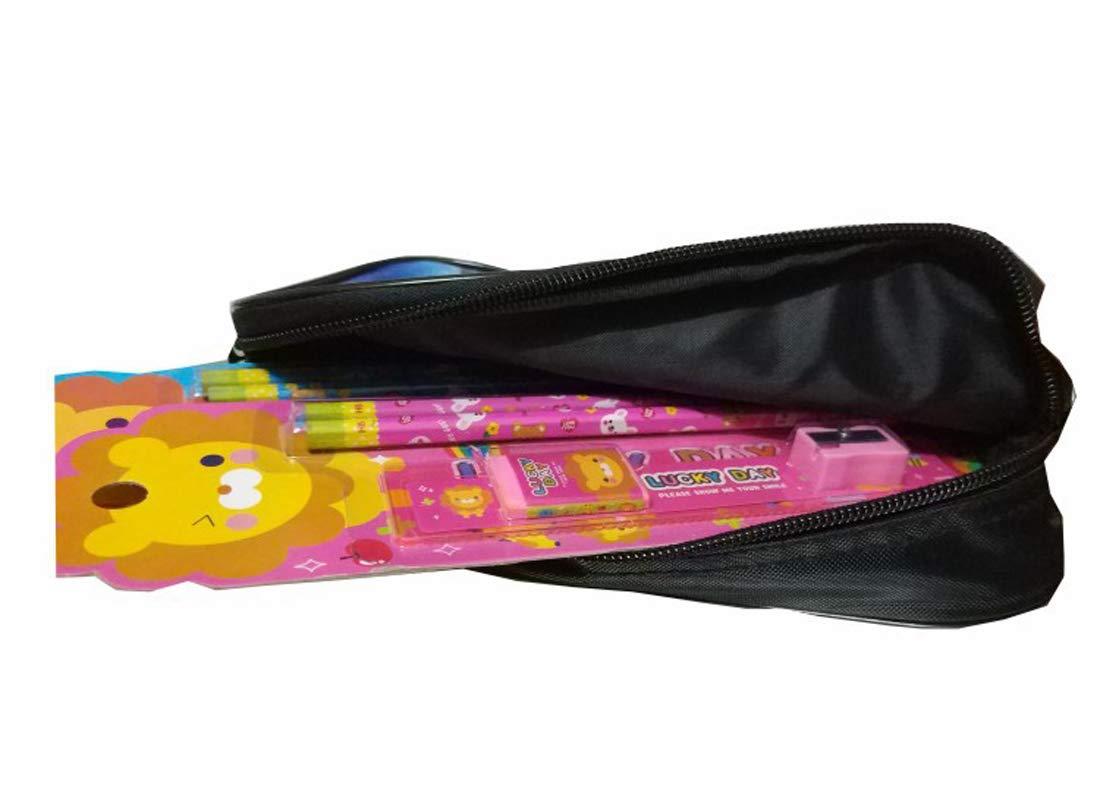 Enfants Animaux Trousse Gar/çons Trousse /à Crayons Filles Grands Compartiments Sac /à Crayons Couleur 06 KELUOSI Dinosaure Trousse