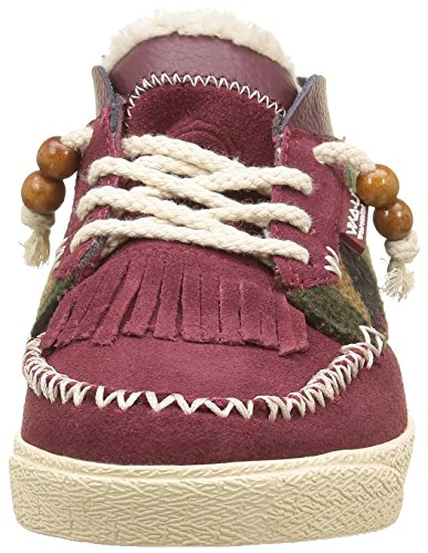 WAU Damen Tijuana Low-Top Rot - Rouge (Cherry)