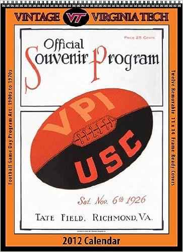 Virginia Tech Calendar.Virginia Tech Hokies 2012 Vintage Football Calendar Asgard Press