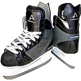 American Athletic Shoe Men's Ice Force Hockey Skates, Black, 9