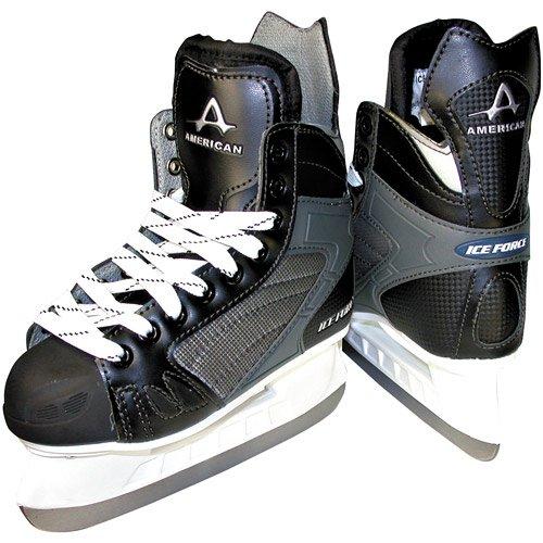 American Athletic Shoe Men's Ice Force Hockey Skates, Black, 10