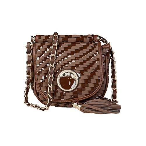 Brown Bag £320 Cross Crossbody Women Bag Cavalli Genuine Body Designer Class 00 RRP RwFBAq