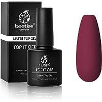 Beetles Gel No Wipe Matte Top Coat - Soak Off UV LED Gel Nail Polish Matte Finish and Long Lasting for Christmas Gift Set Gel Nail Kit