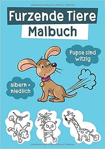 Furzende Tiere Malbuch Witzige Ausmalbilder Für Kinder Und