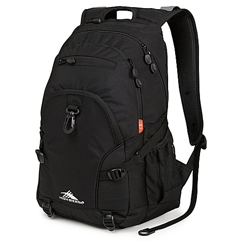 High Sierra Loop 19-Inch School Backpack in Black