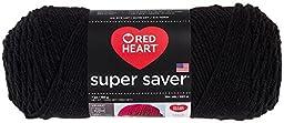 Red Heart  Super Saver Economy Yarn, Black