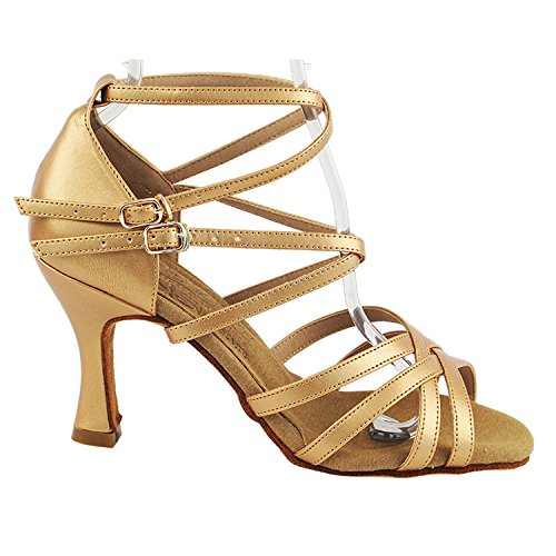 Heels S9206 2 Pumps Dress Salsa Theather Bronze Tango Women Ballroom amp; Art Shoes Shoes 5