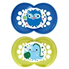 MAM Monsters Orthodontic Pacifier, Boy, 6+ Months, 2-Count