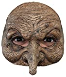 Ghoulish Women's Horror Witch Half Style Wizard Latex Mask Halloween Accessory