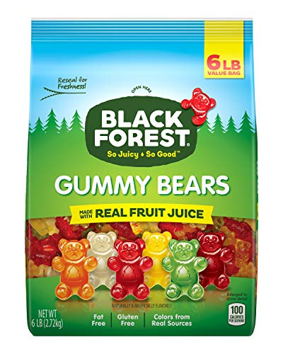 Black Forest Gummy Bears Candy, 6 -