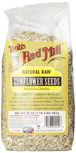 Graines Red Mill naturel brut tournesol de Bob, 20 onces paquets (Pack de 4)