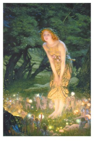 Midsummer Eve, c.1908 Art Poster Print by Edward Robert Hughes
