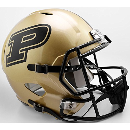 (Riddell Purdue Boilermakers Officially Licensed NCAA Speed Full Size Replica Football Helmet)