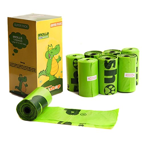 Favorite Green Basic Dog Waste Pet Poop Bags, 120-Count, Refill (Pet Waste Bag Refills)