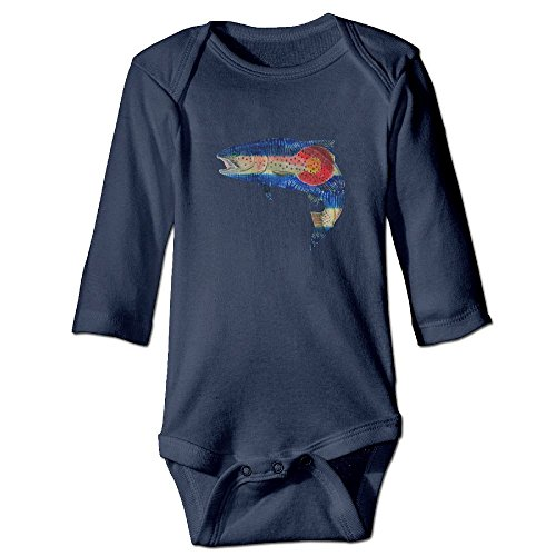 Campfire Trout (Colorado Flag Rainbow Trout Fish Funny Cute Novelty Infant One-Piece Baby Bodysuit Christmas Gift 24 Months)