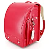 Ransel Randoseru upscale Japanese school bags for girls and boys With Rain Cover (NEW Red)