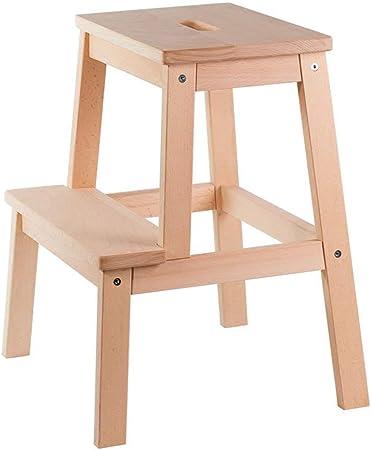 Taburete de escalera de 2 escalones Pedal de madera de haya Taburete de pie Subir Escalera Taburete Cambio de zapatos Banco para niños Taburetes bajos, 43 × 39 × 50 cm Taburete plegable Escalera: Amazon.es: Hogar