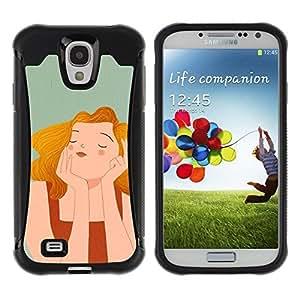 "Pulsar iFace Series Tpu silicona Carcasa Funda Case para Samsung Galaxy S4 IV I9500 , Wonder Pintura feliz Gris Dibujo"""