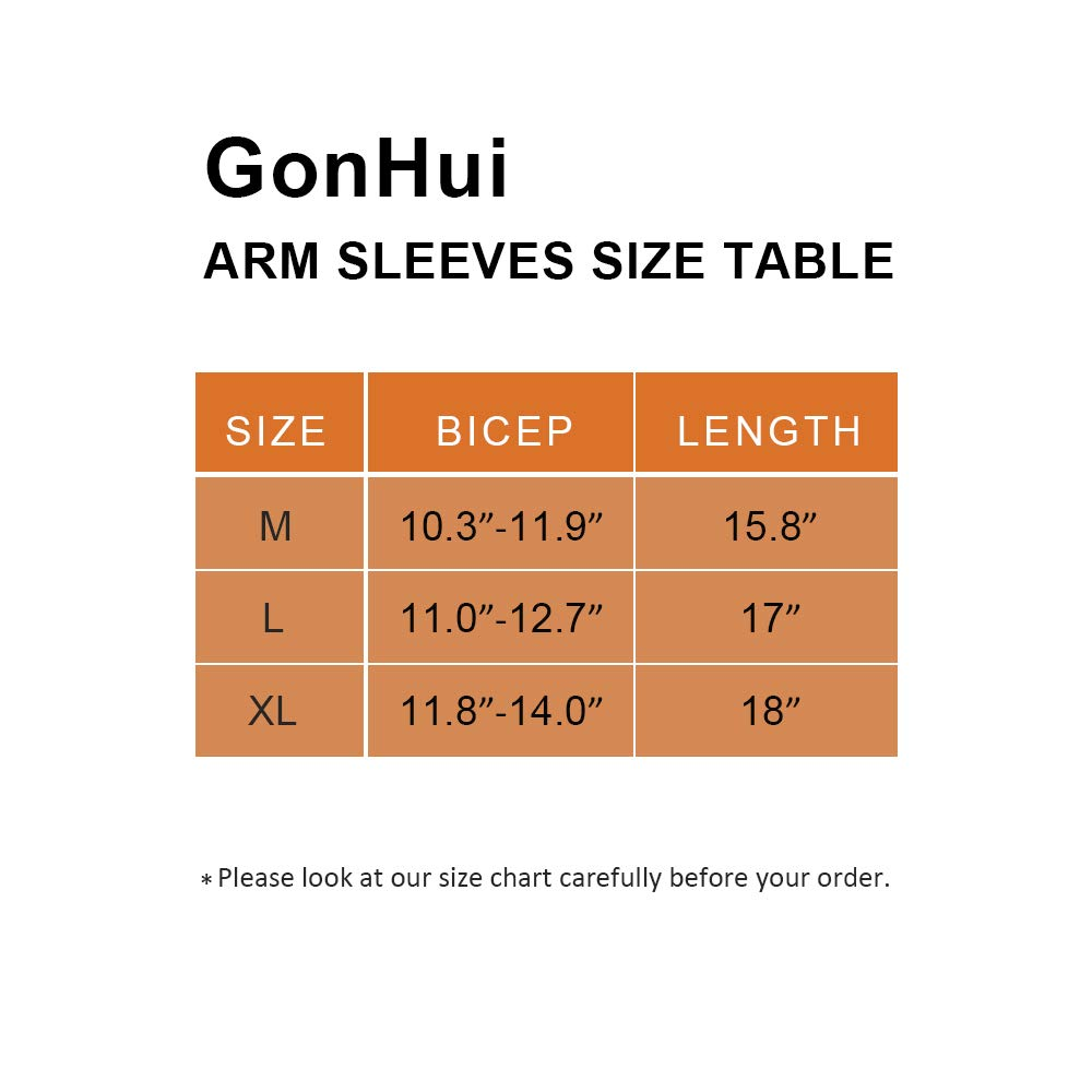 GonHui Arm Sleeves UV Protective Cooling Ice Silk for Adult in Outdoor and Indoor Activities 1 Pair GH