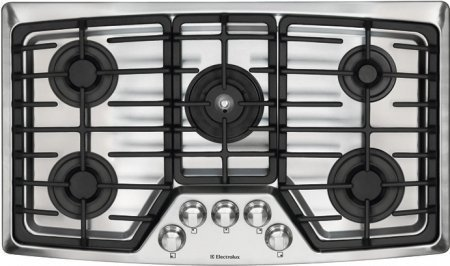 """Electrolux EW36GC55GS Wave-Touch Series 36"""" Gas Cooktop W..."""