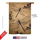 Breeze Decor BG-H-104001-IP Dragonfly Burlap Garden Flag, 28″ x 40″, Multicolor