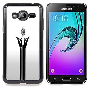 SKCASE Center / Funda Carcasa protectora - Resumen Cara Blanca;;;;;;;; - Samsung Galaxy J3 GSM-J300