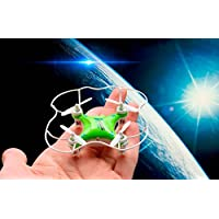 E-SCENERY Mini Remote Control 2.4G 6-Axis Gyro 4CH 3D Flip UFO Quadcopter, RC Micro Drone with Light, USB Rechargeable Battery, Without Camera