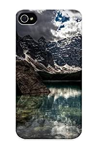 Judasslzzlc Durable Mountains Landscapes Nature Snow Back Case/ Cover For Iphone 4/4s For Christmas