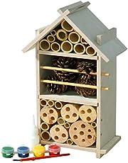 Luxus-Insektenhotels, Kit di Costruzione per casetta per Gli Insetti, di Alta qualità, Comodo Sistema a tasselli, Include Colla per Legno