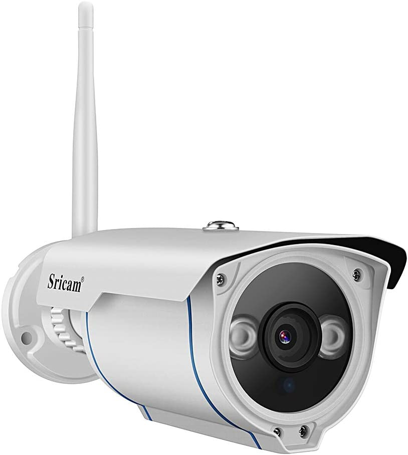 Sricam Wireless Security Camera Outdoor, 720P Motion Detection WiFi Camera, Night Vision, IP 66 Weatherproof, 4X Digital Zoom, MicroSD Recording