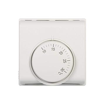 Termostato Interruptor del regulador del termóstato mecánico de la habitación 220V para el aire acondicionado central en el restaurante del hotel el ...
