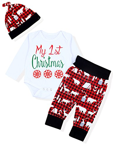 Baby Boy Clothes My First Christmas Romper Newborn