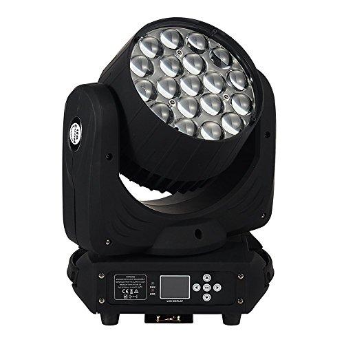 IMRELAX 19x15W Zoom Wash LED Moving Head Light RGBW 4in1 LED DJ Disco Light